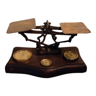 German Scale With Brass Weights