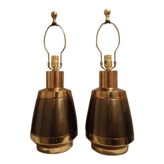 Art Deco Brass Lamps by Stiffel