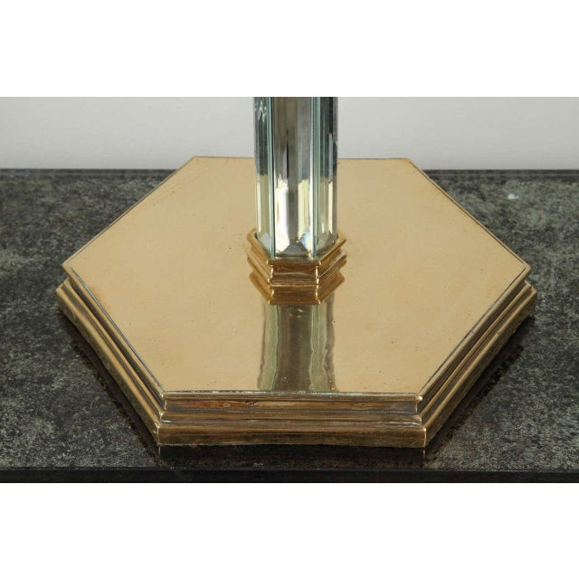 Brass and Beveled Mirror Table Lamp - Image 6 of 9