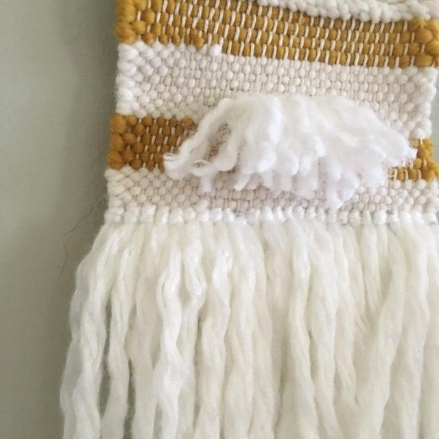 White & Mustard Yarn Weaving - Image 4 of 4