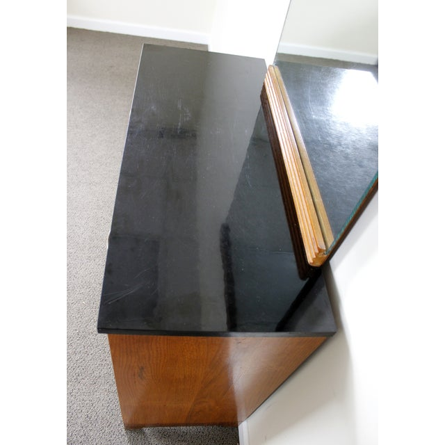 Image of Antique Art Deco Doctor's Cabinet with Mirror