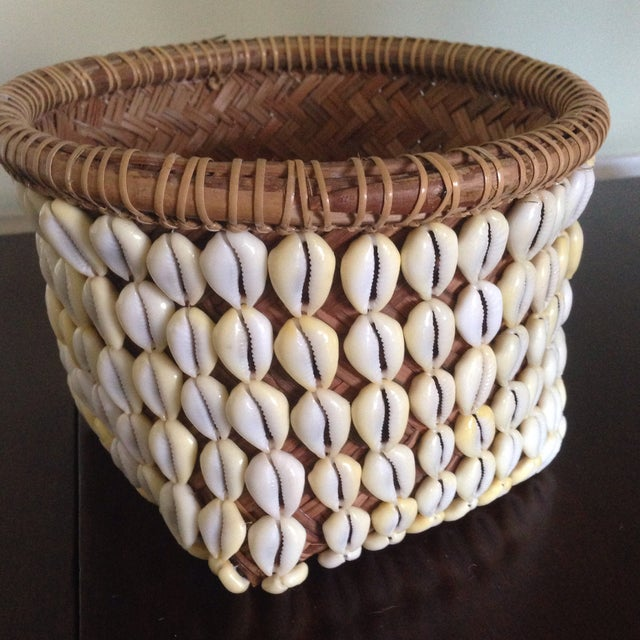 Vintage Woven Shell Basket - Image 5 of 11