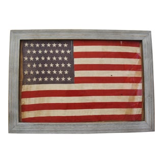 Framed 48-Star American Parade Flag