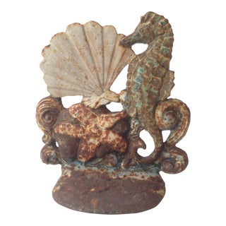 Iron Seashore Themed Door Stop