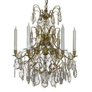 Baroque Chandelier, 6 Polished Brass Pendants