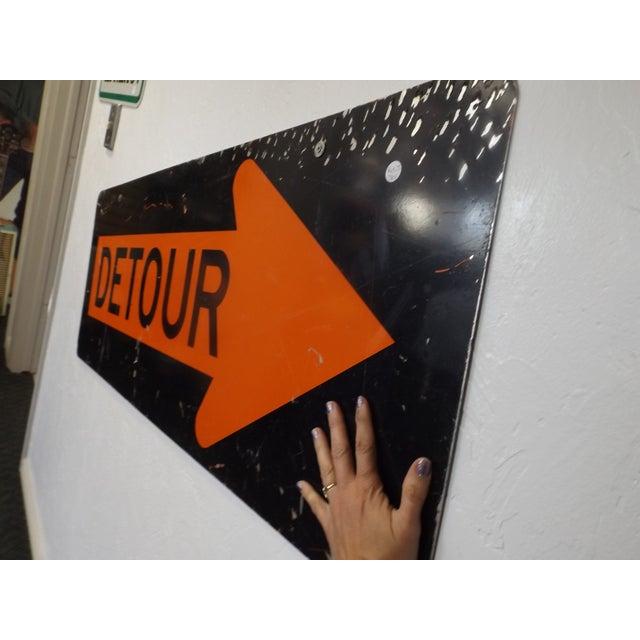 Vintage 'Detour' Sign - Image 5 of 5