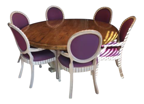 Purple Dining Room Table U0026 Chairs Set   Set ...