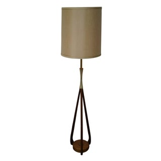 Mid-Century Danish Modern Walnut Table Lamp