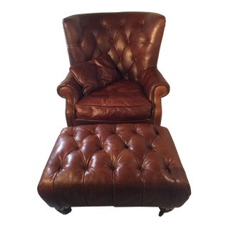 Regency House Inc. Tufted Leather Chair & Ottoman