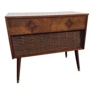 Mid-Century Morse Record Stereo Cabinet & Bar