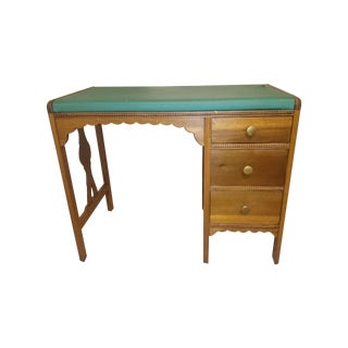 Mahogany Student Desk with 3 Drawers