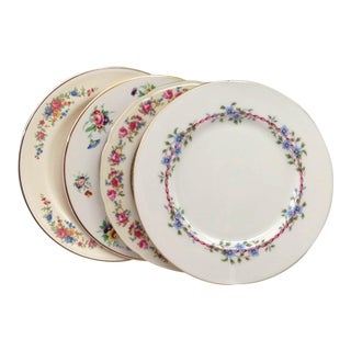 Vintage Mismatched Dinner Plates - Set of 4