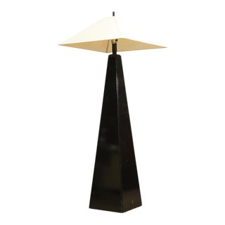 Tall Mid Century Pyramid Floor Lamp