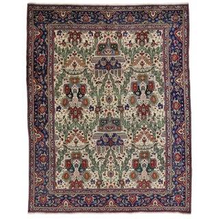Vintage Persian Tabriz Rug - 9′11″ × 12′8″