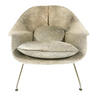 Forsyth One of a Kind Vintage Eero Saarinen Womb Chair Reupholstered in Brazilian Cowhide