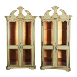 Custom Karges Japanese Design Curio Cases - A Pair