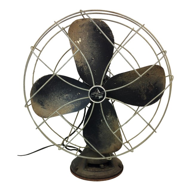 Antique Emerson Fans : Antique emerson electric oscillating fan chairish