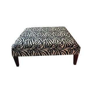 Square Zebra Print Ottoman