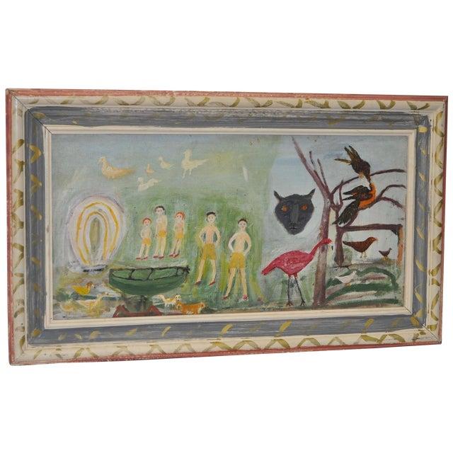 Vintage 1930s Outsider Folk Art Painting by Ursula Barnes - Image 1 of 10