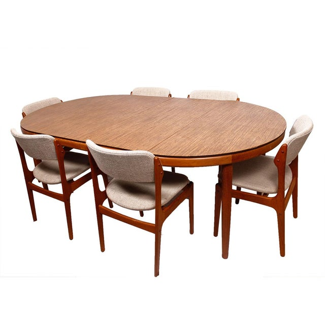 Custom Table Pads For Dining Room Tables: Danish Teak Round/Oval Dining Table & Pads