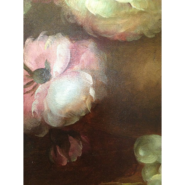 Large Floral Oil Painting in Ornate Gilded Frame - Image 6 of 10