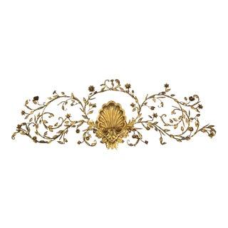 Gold Gilded Italian Wall Pediment