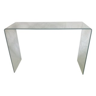 Vintage Glass Waterfall Console Table