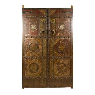 Chinese Iron Temple Doors - A Pair