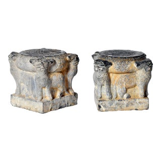 Pair of Chinese Figural Plinths