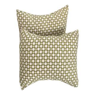 Schumacher Fabric Pillows - A Pair