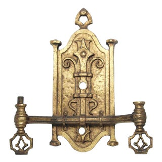Medieval Cast Bronze Finish Early Gas Sconce