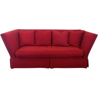 Expressions Furniture Red Nantucket Sofa