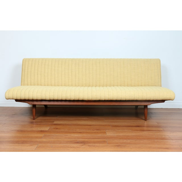 Mid century adjustable yellow sofa bed chairish for Sofa bed yellow
