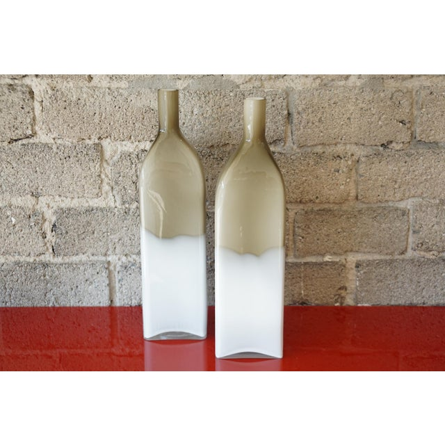 Pair Mid Century Cased Glass Bottles - Image 2 of 7