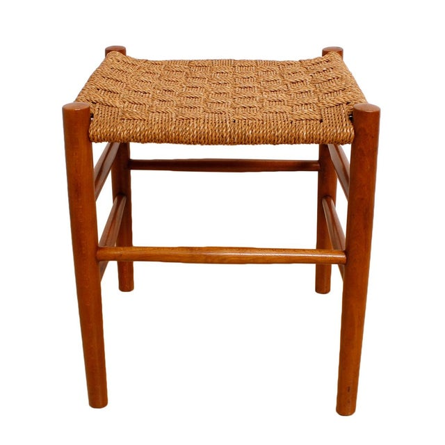 Fritz Hansen 1930's Woven Rope Chair & Ottoman - Image 6 of 6