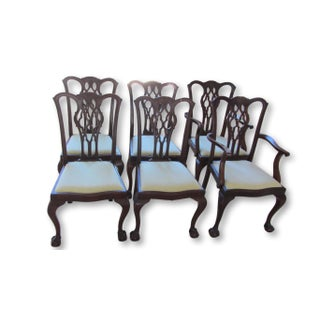 Antique Chippendale Dining Chairs - Set of 6