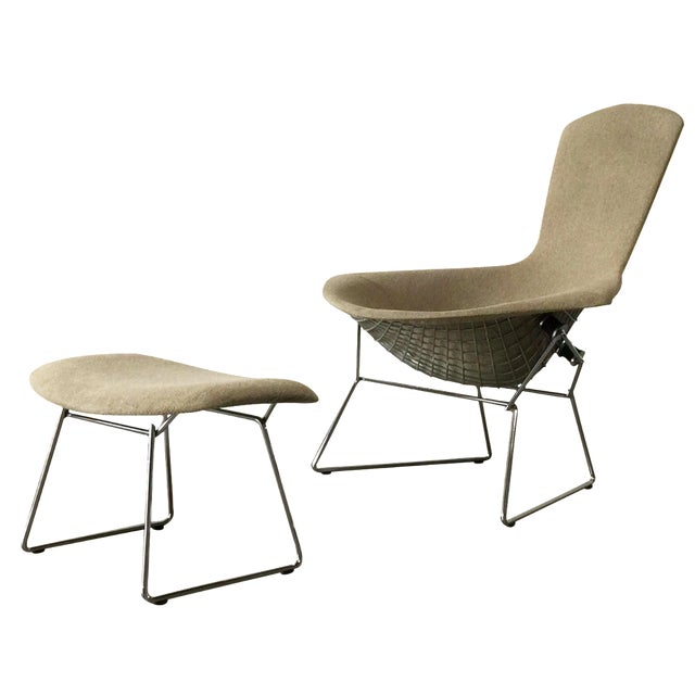 Bertoia Bird Chair Ottoman Set Chairish
