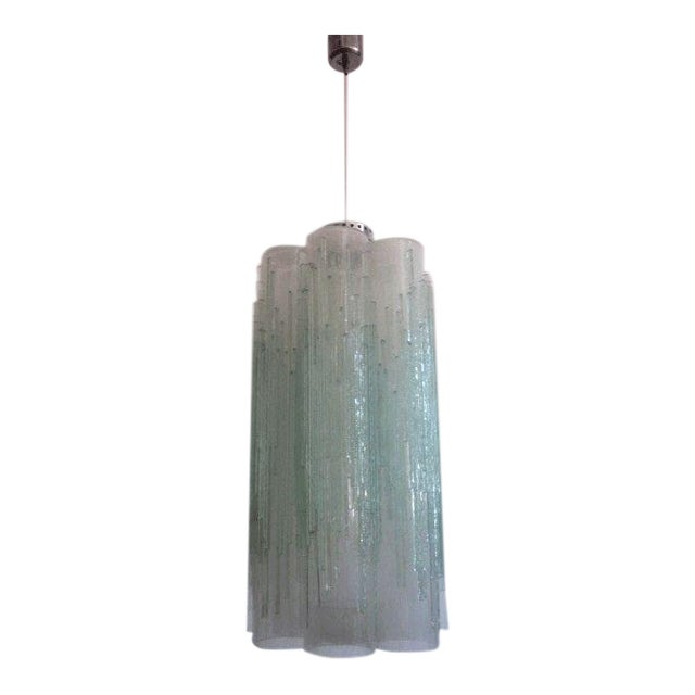 Rare Murano Glass Columnar Chandelier by Venini - Image 1 of 7