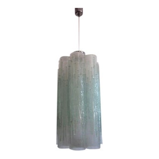 Rare Murano Glass Columnar Chandelier by Venini