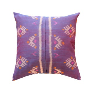 Purple Boho Ikat Handwoven Pillow