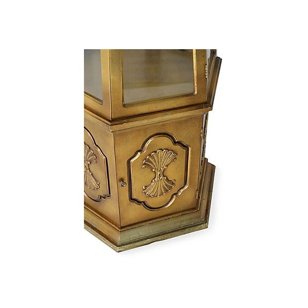 Image of Gilt Hexagonal Vitrine