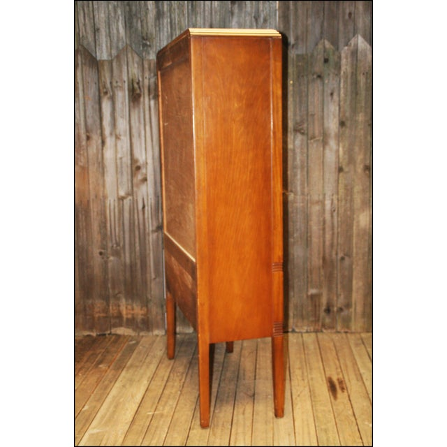 Image of Vintage Art Deco Waterfall China Cabinet