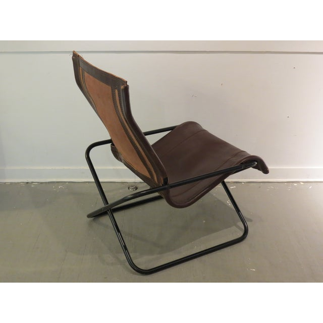 Vintage MCM Uchida Leather Sling Chair - Image 8 of 11