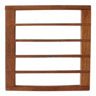 Kalmar Teak Wood Trivet Danish Modern