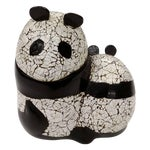 Image of Lacquer Panda Bear Mom and Baby Covered 2 Part Box