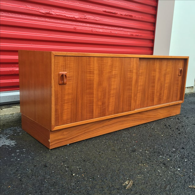Image of Danish Modern Cabinet With Vertical Record Storage