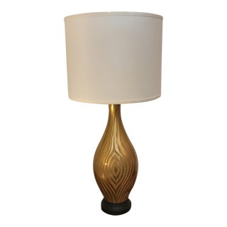 Gold Leaf & Painted Glass Table Lamp