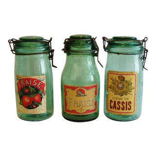 French 1930s Canning Preserve Jars - Set of Three