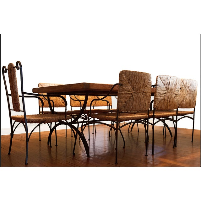 Rustic Reclaimed Wood Dining Set - Image 2 of 3