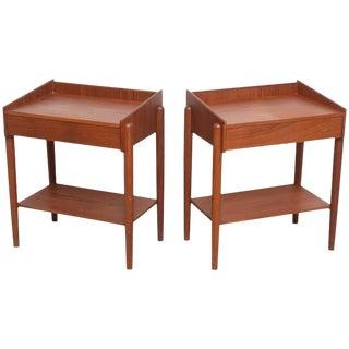 Danish Teak Side Tables - A Pair